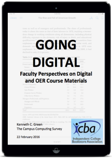 GOING DIGITAL Faculty Perspectives on Digital and OER Course Materials